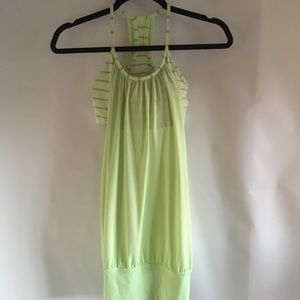 Lululemon Light Green Sleeveless Tank Bra